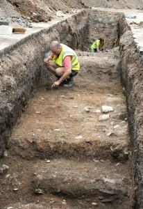 Раскопки в Лестере, сентябрь 2012